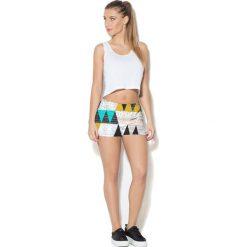 Spodnie damskie: Colour Pleasure Spodnie damskie CP-020 22 białe r. 3XL/4XL