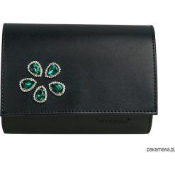 Kopertówki damskie: MANZANA Kopertówka Koperta z zielonymi cekinami
