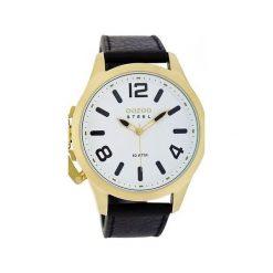 Zegarek OOZOO Steel OS340 Black/gold. Czarne, analogowe zegarki męskie Moderntime, ze stali. Za 379,00 zł.
