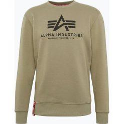 Bejsbolówki męskie: Alpha Industries - Męska bluza nierozpinana, zielony