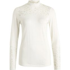 Bluzki asymetryczne: Cream MALENA  Bluzka z długim rękawem chalk