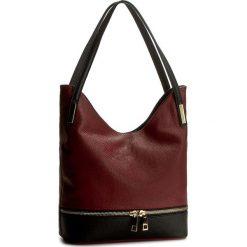 Torebka CREOLE - RBI10082  Bordowy/Czarny. Czerwone torebki klasyczne damskie Creole, ze skóry, duże. W wyprzedaży za 229,00 zł.