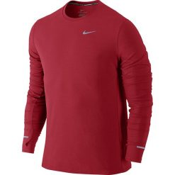 T-shirty męskie: koszulka do biegania męska NIKE DRI-FIT CONTOUR LONGSLEEVE / 683521-658 – NIKE DRI-FIT CONTOUR LONGSLEEVE