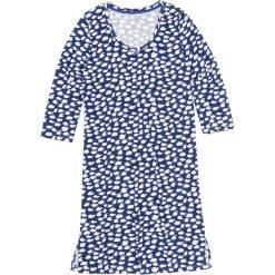 Bielizna nocna: Koszula nocna bonprix szafirowo-biały wzorzysty