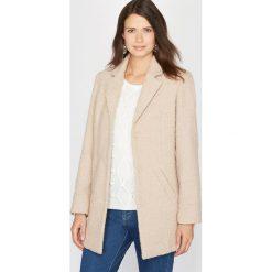 Płaszcze damskie pastelowe: Płaszcz boucle, 10% wełny