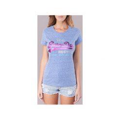 T-shirty z krótkim rękawem Superdry  VINTAGE LOGO TRI FOIL. Niebieskie t-shirty damskie Superdry, xs. Za 103,20 zł.