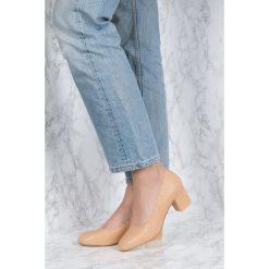 Buty ślubne damskie: NA-KD Shoes Czółenka z wycinanymi brzegami - Beige