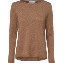 Marie Lund - Sweter damski z czystego kaszmiru, beżowy. Brązowe swetry klasyczne damskie Marie Lund, l, z dzianiny. Za 449,95 zł.