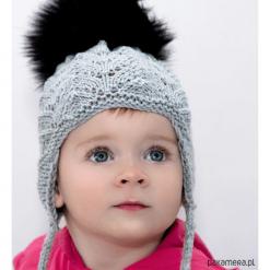 Czapka Jodełka Merynos Dziecięca. Czerwone czapeczki niemowlęce marki Pakamera, z dzianiny. Za 66,00 zł.