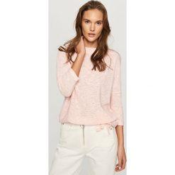 Kardigany damskie: Melanżowy sweter - Różowy
