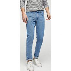 Mango Man - Jeansy Patrick2. Niebieskie jeansy męskie slim Mango Man, z bawełny. W wyprzedaży za 99,90 zł.