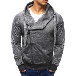 Bluzy męskie: Bluza męska rozpinana z kapturem szara (bx2280)