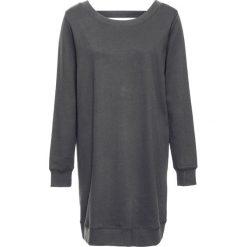 """Sukienki dresowe: Sukienka dresowa z głębokim dekoltem z tyłu bonprix czarny """"oil washed"""""""