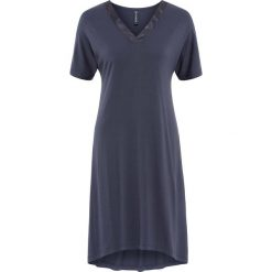 Sukienki: Sukienka shirtowa z satynową wstawką bonprix jagodowy
