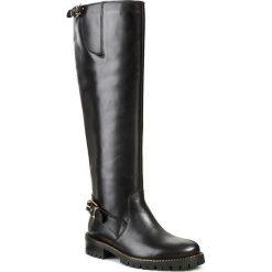 Kozaki GINO ROSSI - Riccia DKG205-G46-D23V-9999-F Czarny 99. Czarne buty zimowe damskie Gino Rossi, z polaru, przed kolano, na wysokim obcasie, na obcasie. W wyprzedaży za 449,00 zł.