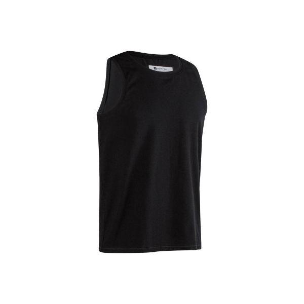 ae419bd87 Koszulka bez rękawów Gym & Pilates 500 męska - Brązowe koszulki męskie  DOMYOS, xl, bez wzorów, z elastanu, bez kołnierzyka, bez rękawów. Za 14,99  zł.