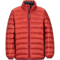 """Kurtka puchowa """"Tullus"""" w kolorze czerwonym. Czerwone kurtki chłopięce marki Marmot Kids, z puchu. W wyprzedaży za 195,95 zł."""