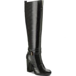 Kozaki TWINSET - Stivale CA7PME Nero 00006. Czarne buty zimowe damskie Twinset, ze skóry. W wyprzedaży za 899,00 zł.