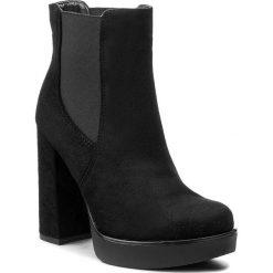 Botki JENNY FAIRY - WYL1036A-1 Czarny. Czarne buty zimowe damskie marki Jenny Fairy, z materiału. Za 139,99 zł.