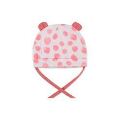 Esprit  Girls Czapka koral - pomarańczowy. Czerwone czapeczki niemowlęce marki DOMYOS, z nadrukiem, z bawełny. Za 39,00 zł.