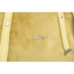 Shopper bag damskie: TORBA SHOPPER FELICE  RICA ŻÓŁTY/PLUSZ HAZEL
