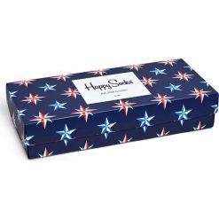 Happy Socks - Skarpetki Nautical Gift Box (4-pak). Niebieskie skarpetki damskie Happy Socks, z bawełny. Za 119,90 zł.