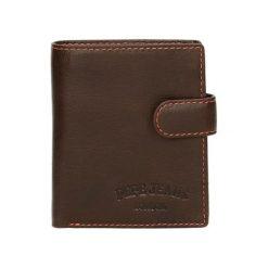 Portfele męskie: Skórzany portfel w kolorze brązowym – (S)8,5 x (W)10,5 x (G)1 cm