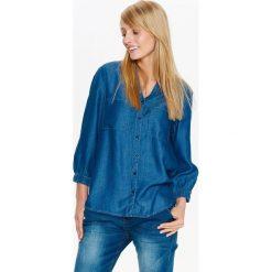 KOSZULA DENIMOWA DAMSKA. Niebieskie koszule damskie marki Top Secret, na lato. Za 49,99 zł.