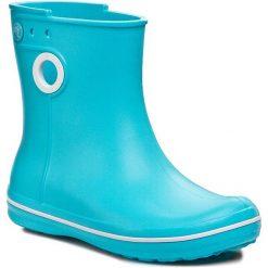 Kalosze CROCS - Jaunt Shorty Boot W 15769 Pool. Różowe buty zimowe damskie marki Crocs, z materiału. W wyprzedaży za 149,00 zł.