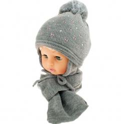 Czapka dziecięca z szalikiem CZ+S 129E. Szare czapeczki niemowlęce Proman. Za 42,82 zł.