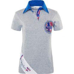 """Bluzki damskie: Koszulka polo """"Sailor"""" w kolorze szarym"""