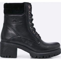 Panama Jack - Botki Phoebe. Czarne buty zimowe damskie Panama Jack, z materiału, z okrągłym noskiem, na sznurówki. W wyprzedaży za 359,90 zł.