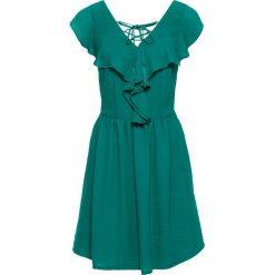 Sukienki: Sukienka z falbaną bonprix ciemnoszmaragdowy