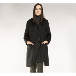Płaszcz damski 85-9W-100-8. Szare płaszcze damskie marki Wittchen, na jesień, z aplikacjami, z materiału, eleganckie. Za 599,00 zł.
