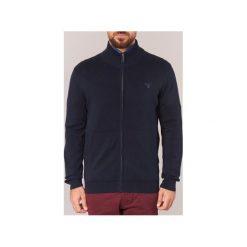 Swetry rozpinane / Kardigany Gant  ZIP CARDIGAN. Niebieskie kardigany męskie marki GANT, m. Za 471,20 zł.