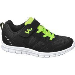 Sportowe buty dziecięce Vty czarne. Czarne buciki niemowlęce Vty, na sznurówki. Za 89,90 zł.