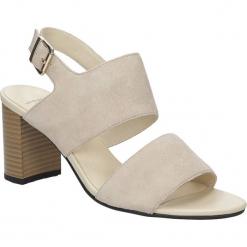 Sandały zamszowe na słupku Vagabond 4337-240-11. Szare sandały damskie na słupku marki Vagabond, z zamszu. Za 259,99 zł.