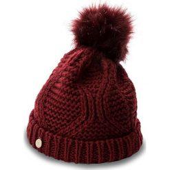 Czapka GUESS - Not Coordinated Wool AW6801 WOL01 M BOR. Czerwone czapki zimowe damskie marki Guess, z aplikacjami, z materiału. W wyprzedaży za 139,00 zł.