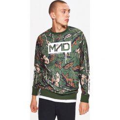 Bluza z nadrukiem all over - Brązowy. Brązowe bluzy męskie rozpinane Cropp, l, z nadrukiem. Za 79,99 zł.