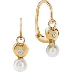 Kolczyki damskie: Unikalne Kolczyki Złote – złoto żółte 375, Perła