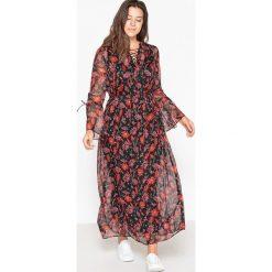 Sukienki: Długa sukienka z kwiatowym nadrukiem