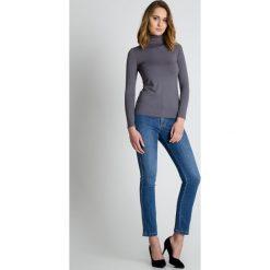 Bluzki asymetryczne: Szara golfowa bluzka BIALCON