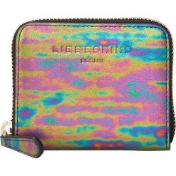 """Portfele damskie: Skórzany portfel """"Dot W7"""" z kolorowym wzorem - 10 x 8 x 2 cm"""
