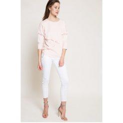 Answear - Jeansy. Białe jeansy damskie marki ANSWEAR, z bawełny. W wyprzedaży za 99,90 zł.