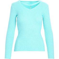 Swetry damskie: Miętowy Sweter Shine Brightly
