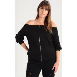 Bluzy rozpinane damskie: Missguided Plus BARDOT ZIP THROUGH  Bluza black