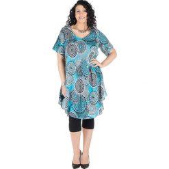 Odzież damska: Sukienka w kolorze błękitno-białym