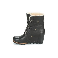 Śniegowce Sorel  JOAN OF ARCTIC WEDGE MID SHEARLING. Czarne buty zimowe damskie Sorel. Za 630,00 zł.
