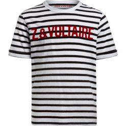 T-shirty chłopięce: Zadig & Voltaire KURZARM  Tshirt z nadrukiem weiß/schwarz