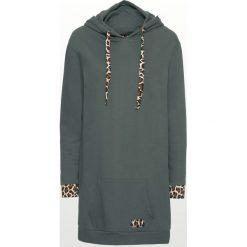 Bluzy damskie: Bluza oversize z kontrastowymi elementami bonprix zielony eukaliptusowy - leo